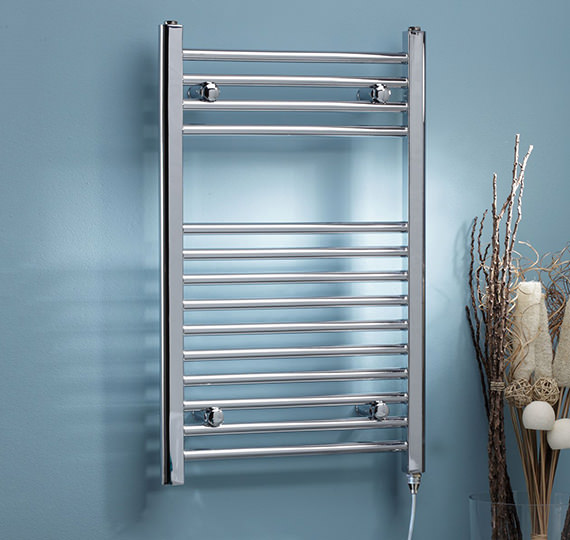 Kartell K-Rad 500mm Wide Electric Only Curved Heated Towel Rail