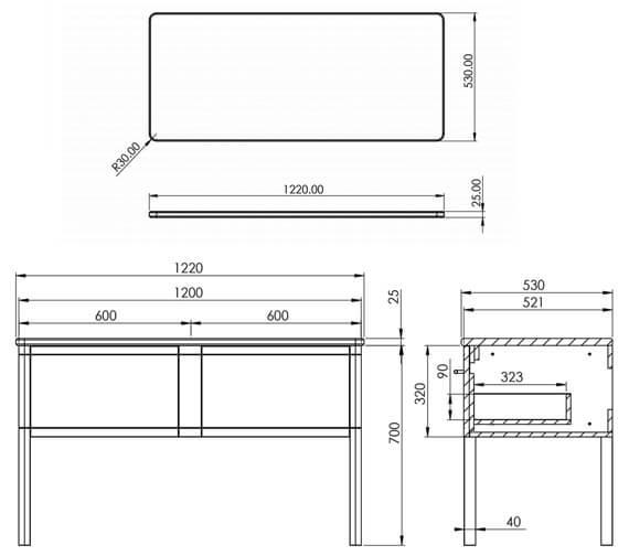 Technical drawing QS-V88824 / FR120DF.MW