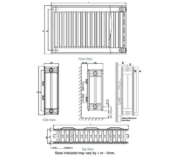 Technical drawing QS-V99282 / D404K