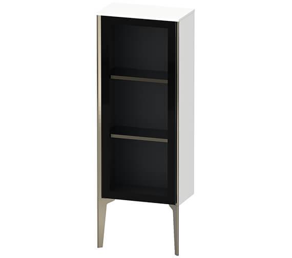 Duravit XViu Floor Standing 400mm Wide Semi Tall Cabinet With Mirror Door