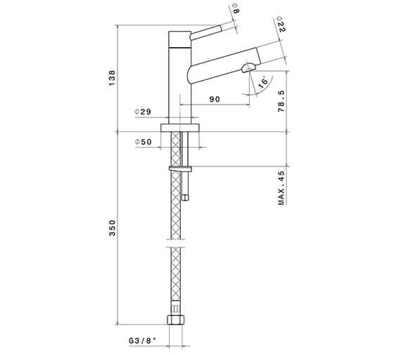 Technical drawing QS-V96315 / 2260FCP