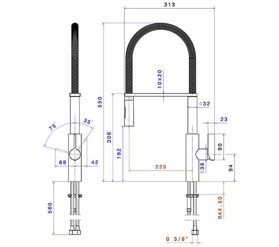 Technical drawing QS-V96314 / 63930CP