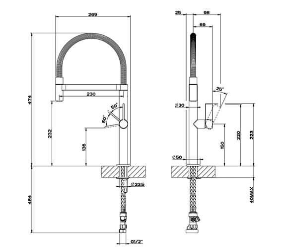 Technical drawing QS-V42561 / 29811031