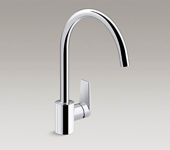 Kohler Taut Polished Chrome Single Lever Kitchen Mixer Tap