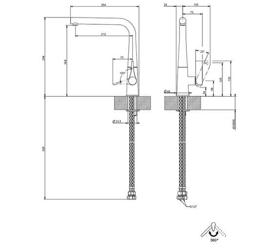 Technical drawing QS-V89514 / 17175031