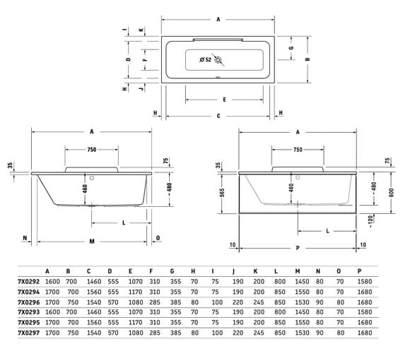 Technical drawing QS-V24930 / 700292000000000