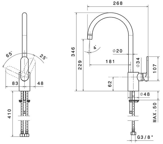 Technical drawing QS-V96331 / 64100CP