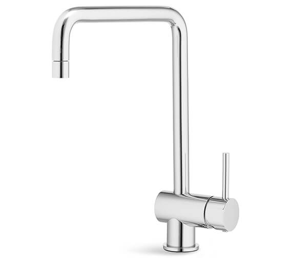 Newform X-T Single Lever Kitchen Sink Mixer Tap With Squared And Tubular Swivel Spout