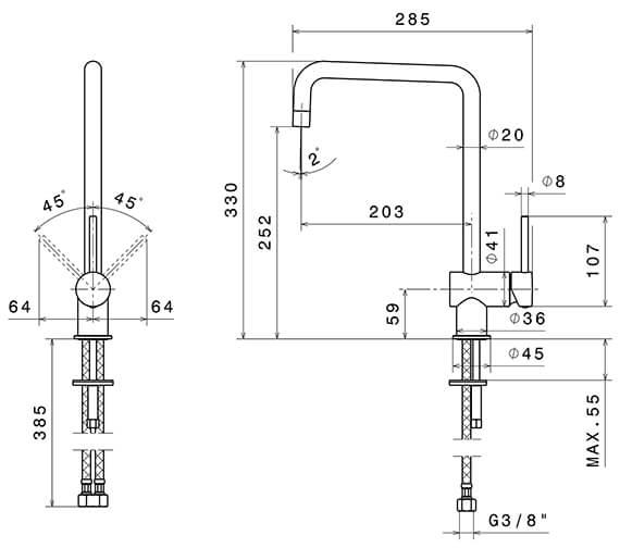 Technical drawing QS-V96332 / 4320CP
