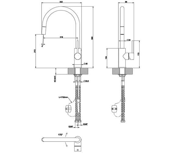 Technical drawing QS-V89516 / 20573031