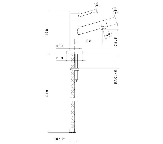 Technical drawing QS-V100758 / 2260CP