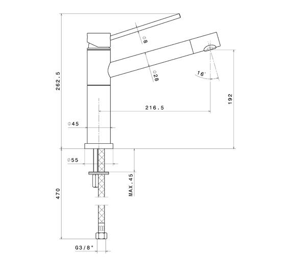 Technical drawing QS-V100757 / 2400CP