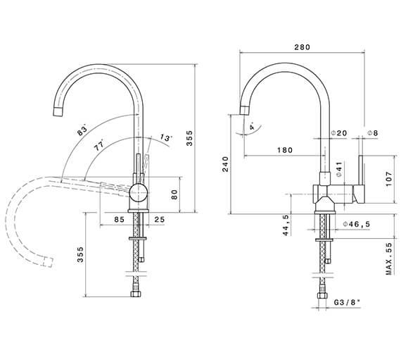Technical drawing QS-V96335 / 4371CP