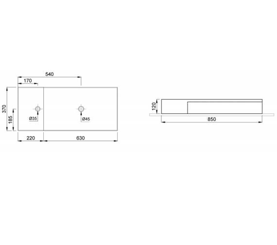 Technical drawing QS-V102456 / 83110