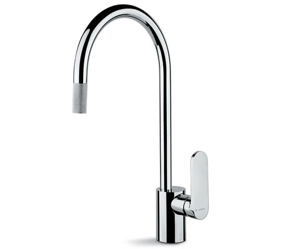 Newform X-Light Single Lever Kitchen Sink Mixer Tap With Round Swivel Spout