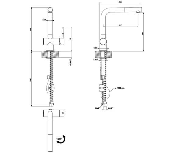 Technical drawing QS-V89517 / 13193031