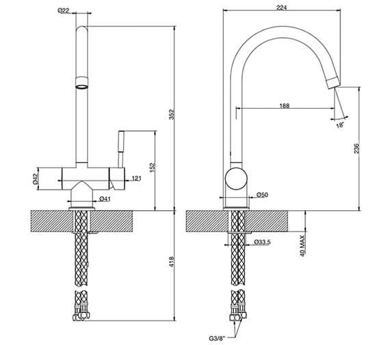 Technical drawing QS-V89519 / 13183031
