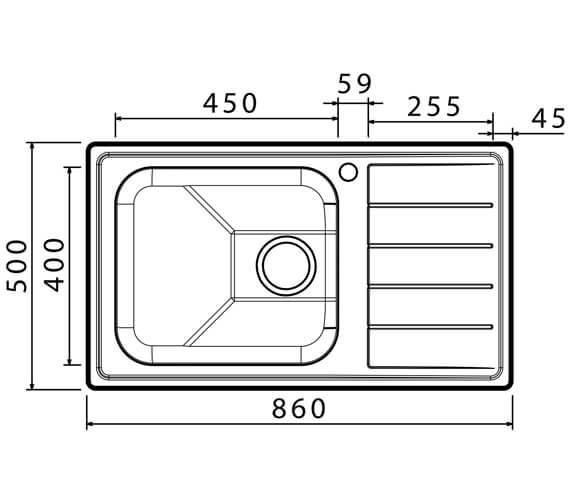 Technical drawing QS-V88827 / LI100L
