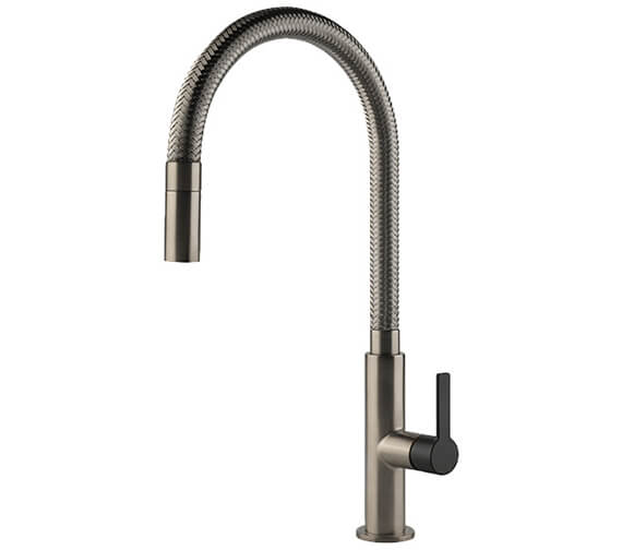 Gessi Mesh 433mm High Kitchen Mixer Tap With Pull Out Jet Spray
