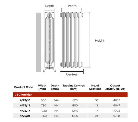 Technical drawing QS-V99308 / 4/75/10