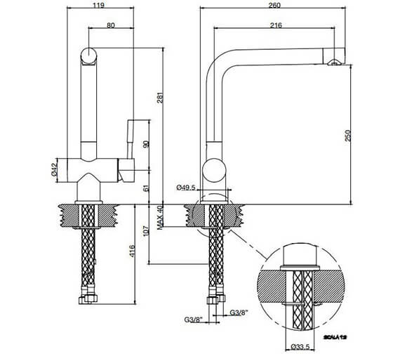 Technical drawing QS-V89518 / 13191031