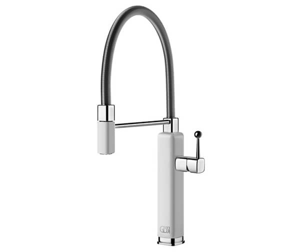 Gessi Happy 482mm High Kitchen Mixer Tap With Pull Out Jet Spray