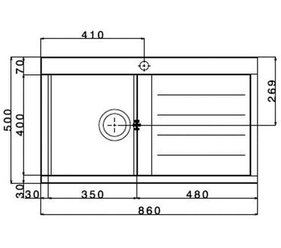 Technical drawing QS-V88830 / SPI100L