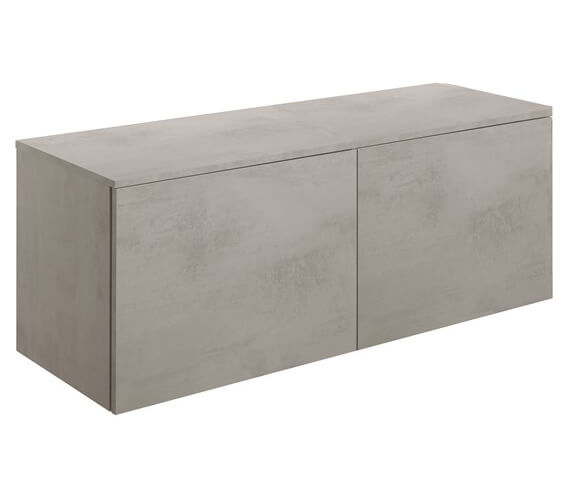 Crosswater Union Concrete Effect 710mm 2 x Wall Hung Unit With 1410mm Worktop