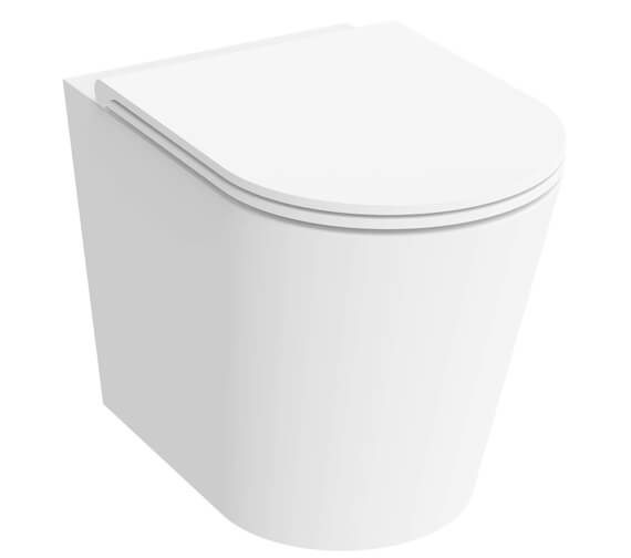 Saneux Icon 370mm Round Back To Wall WC Pan