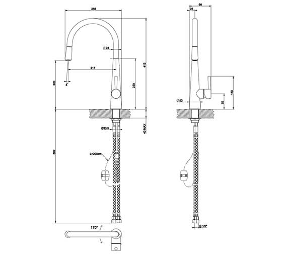 Technical drawing QS-V89524 / 20577031