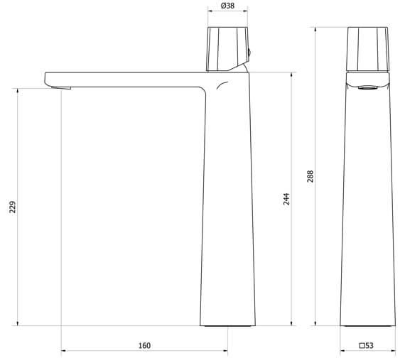 Technical drawing QS-V102033 / MV110DNC