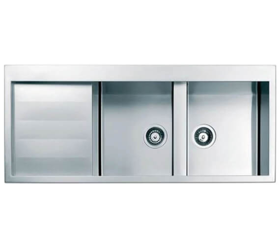 Clearwater Spirito 1160 x 500mm Double Bowl And Drainer Kitchen Sink