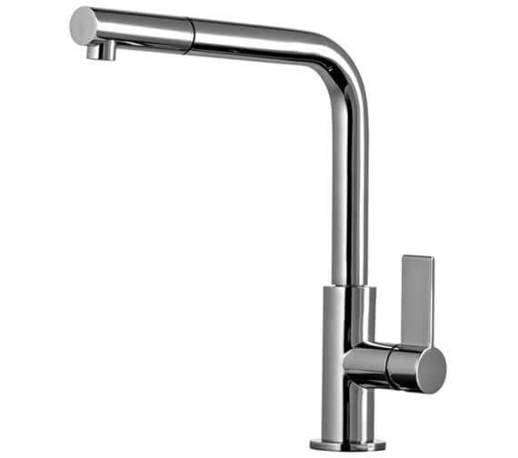 Gessi Emporio 291mm High Kitchen Mixer Tap With Pull Out Jet Spray