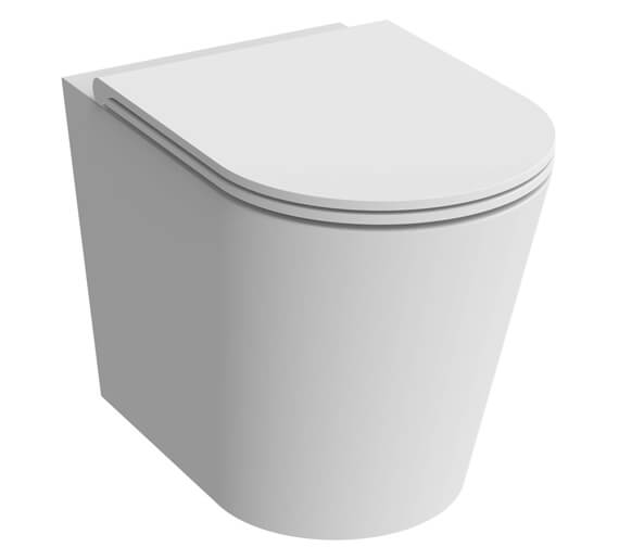 Additional image of Saneux Icon 370mm Round Back To Wall WC Pan