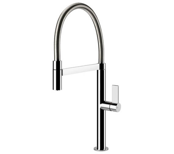 Gessi Emporio 474mm High Kitchen Mixer Tap With Pull Out Jet Spray