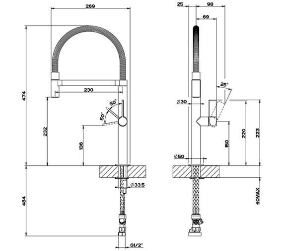Technical drawing QS-V89526 / 29811031