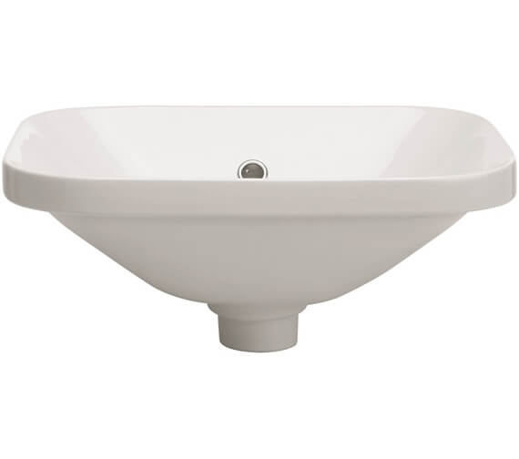 Crosswater Union Semi Recessed Basin With Overflow
