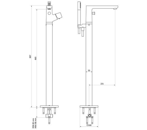 Technical drawing QS-V102467 / MV415FC