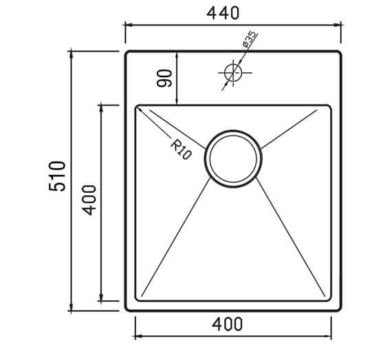 Technical drawing QS-V88837 / UR440