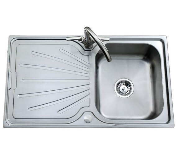 Clearwater Deep Blue 800 x 500mm Single Bowl Kitchen Sink And Drainer