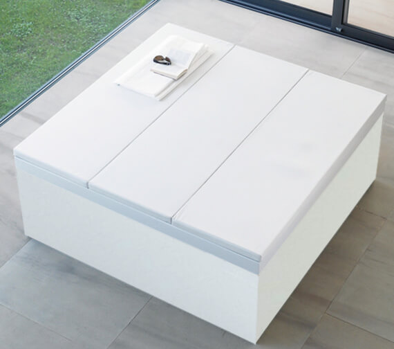Alternate image of Duravit Blue Moon 1400mm Square Bath With Support Frame