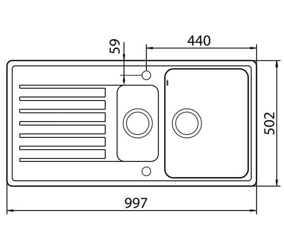 Technical drawing QS-V88791 / HALD150AL