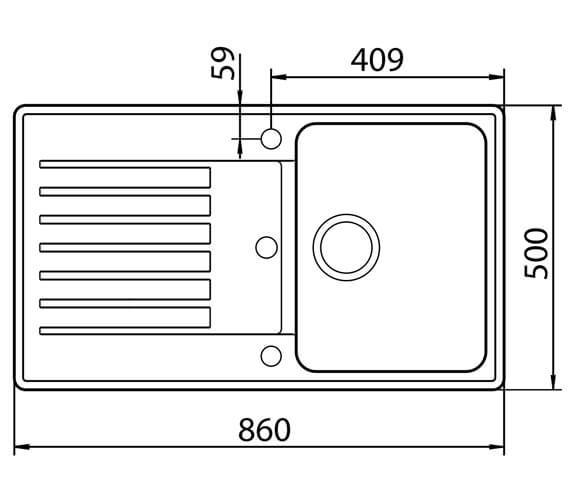 Technical drawing QS-V88792 / HALD100NE