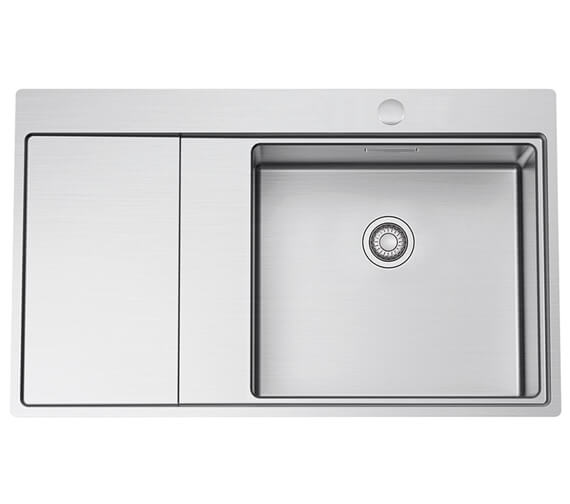 Clearwater Xeron 860 x 520mm Single Bowl And Drainer Kitchen Sink