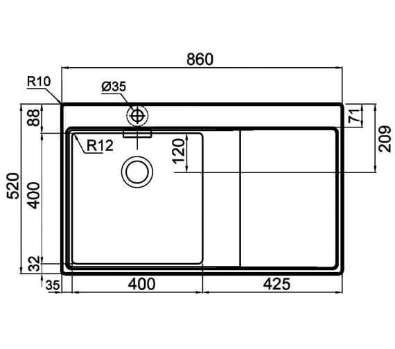 Technical drawing QS-V88834 / MH1F143A2