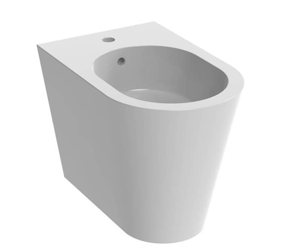 Saneux Icon 1 Tap Hole Round Back To Wall Bidet