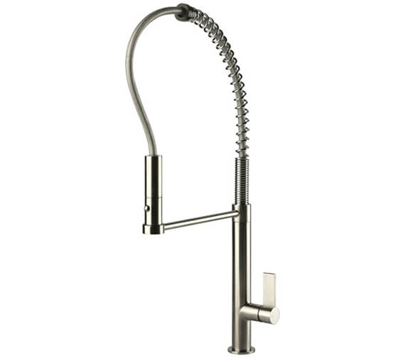 Gessi Emporio 603mm High Chrome Kitchen Mixer Tap With Pull Out Jet Spray