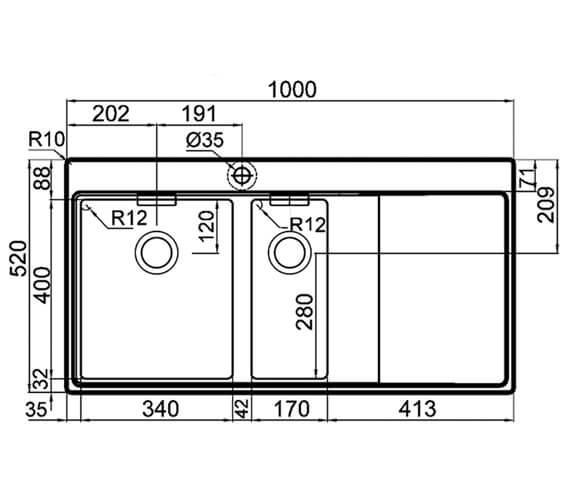Technical drawing QS-V88836 / ML7F148A2