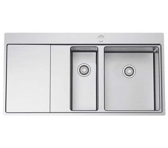 Clearwater Xeron 1000 x 520mm 1.5 Bowl And Drainer Kitchen Sink