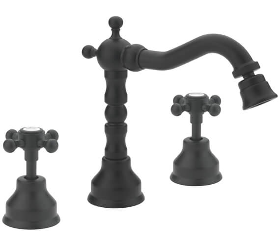 Additional image of Tre Mercati Allora 3 Tap Hole Deck Mounted Bidet Mixer Tap With Click Clack Waste